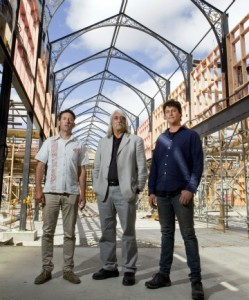 Zac, Alasdair Cassels, and Joe Shanks, in the Victorian Arcade of The Tannery.