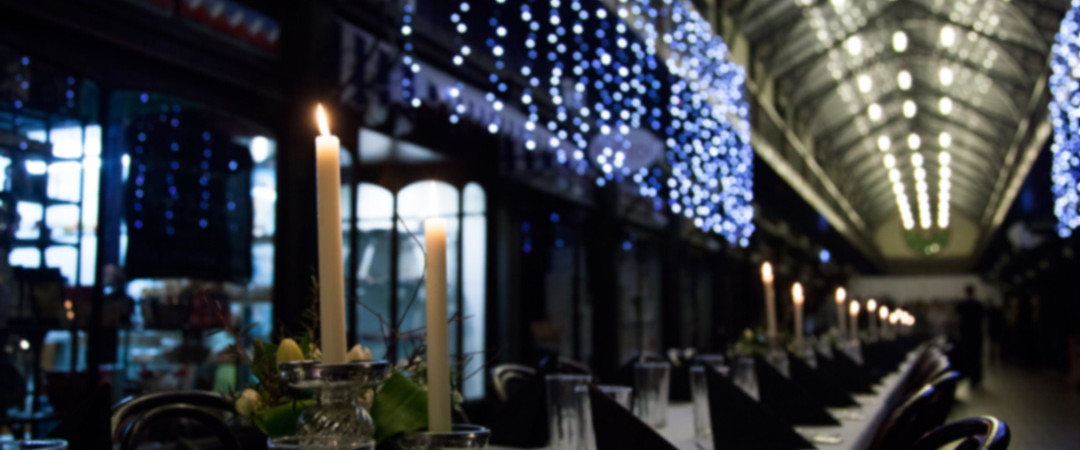The Atrium Wedding Decorations & Fairy Lights - The Tannery Wedding Venues Christchurch