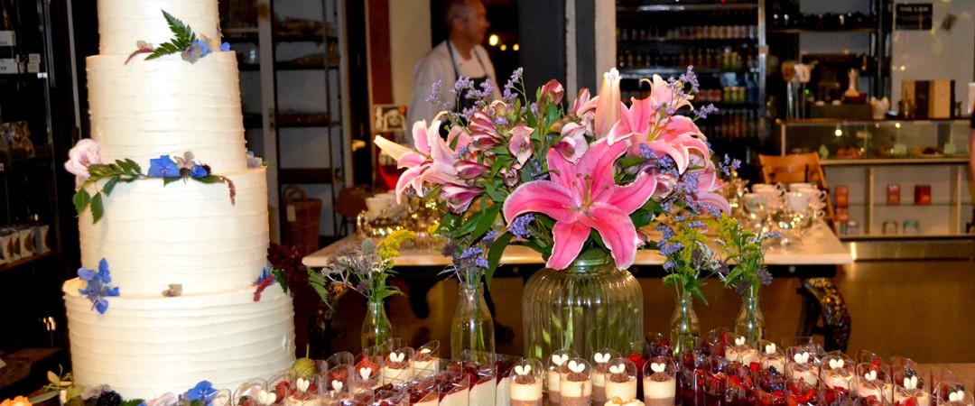 The Atrium Wedding Dessert Buffet - The Tannery Wedding Venues Christchurch