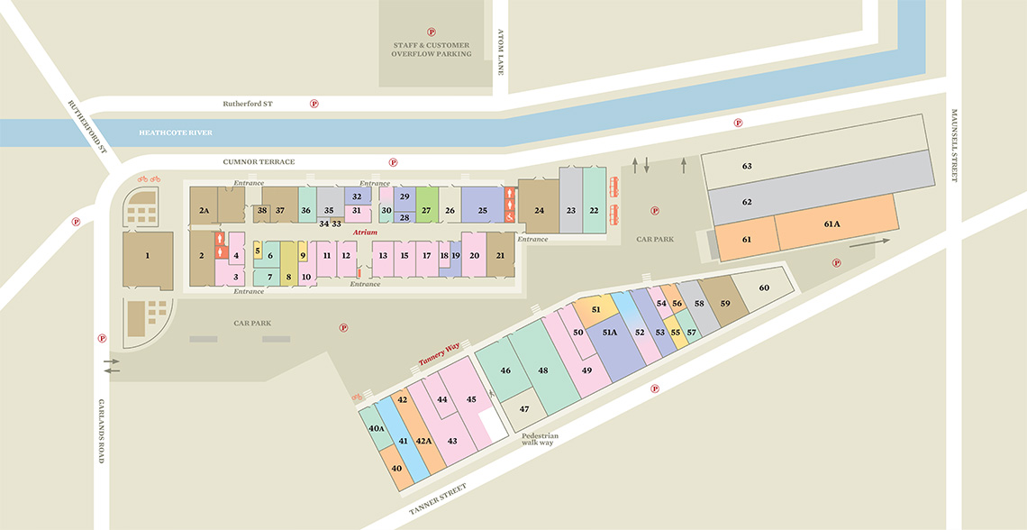 Tannery Parking Map