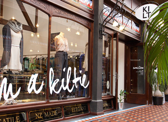 Kilt - fashion and shopping at The Tannery Christchurch