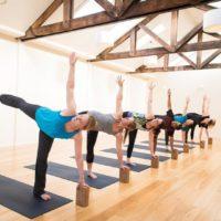 Grassroots yoga half moon pose