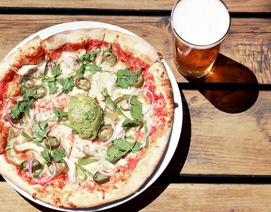 Pizza at The Brewery - restaurant and craft beer at The Tannery Christchurch