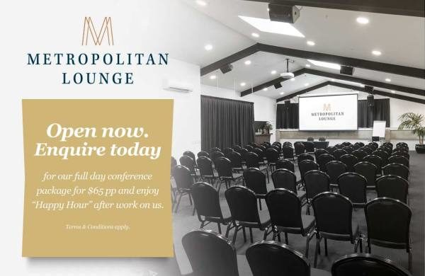 Metropolitan Lounge is now open for functions at The Tannery