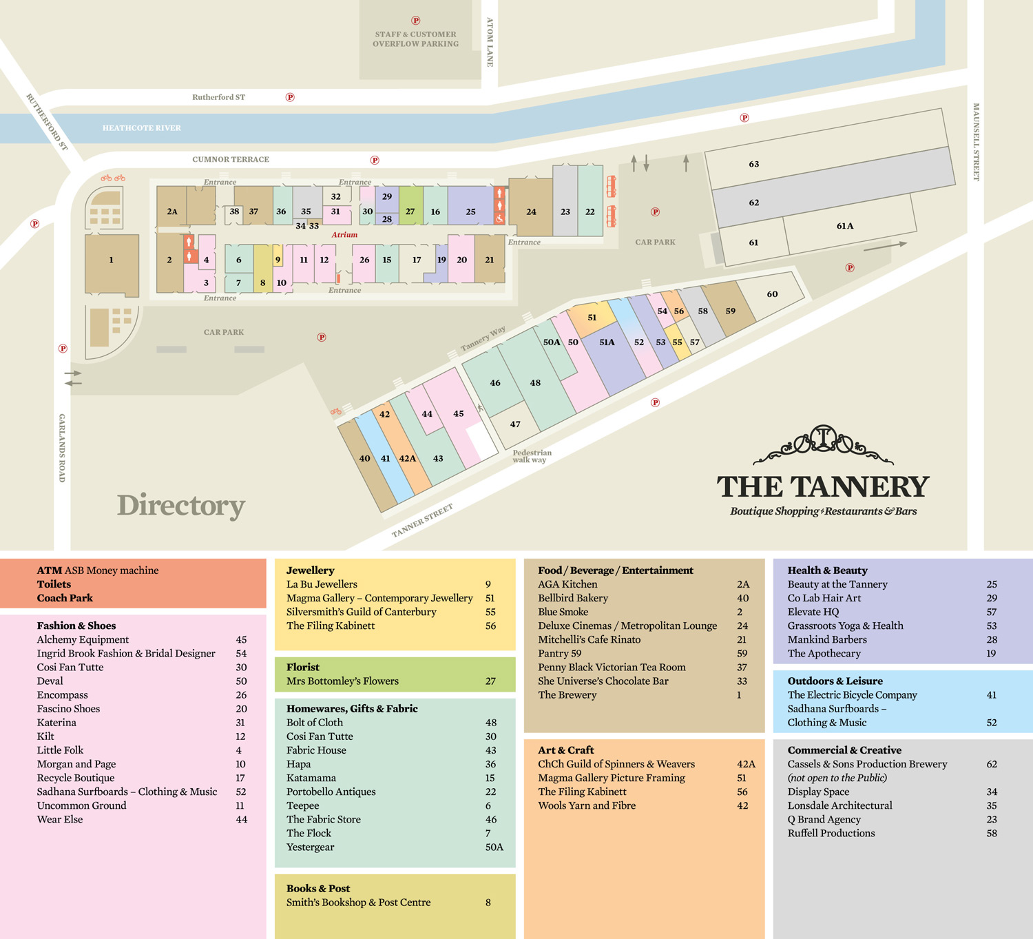 Store Directory - Shopping at The Tannery