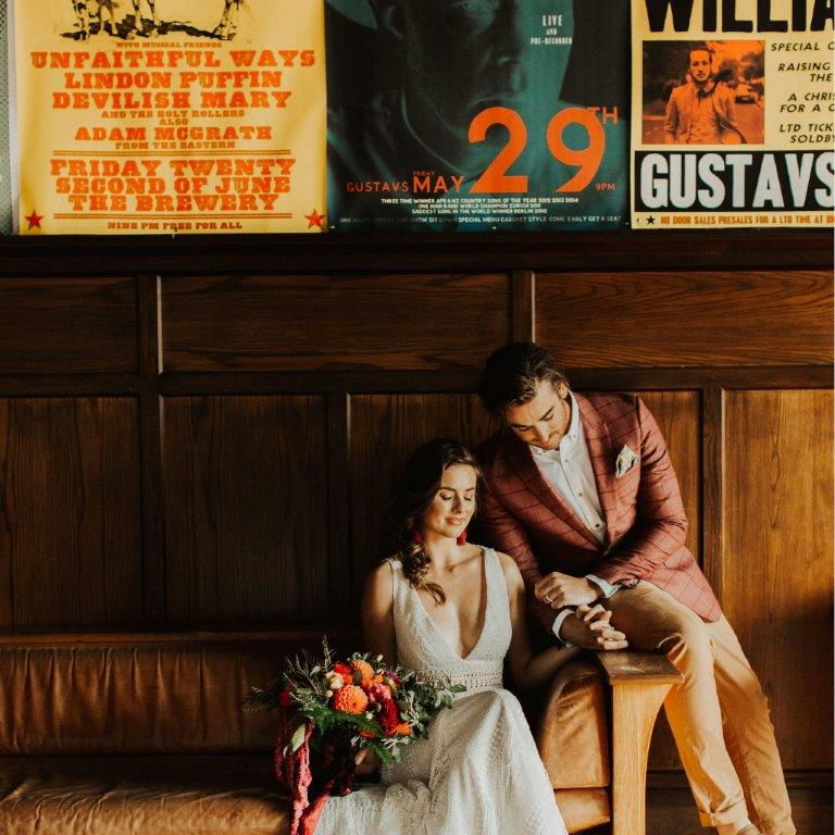 Bride and groom - weddings at The Tannery