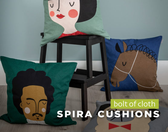 Spira cushions from Bolt of Cloth - Homewares at The Tannery