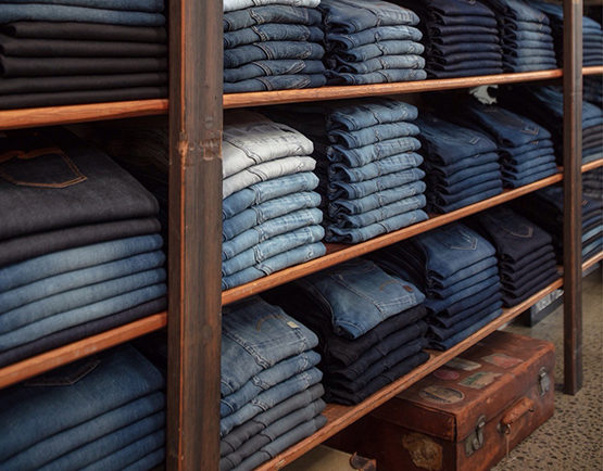 Encompass denim wall